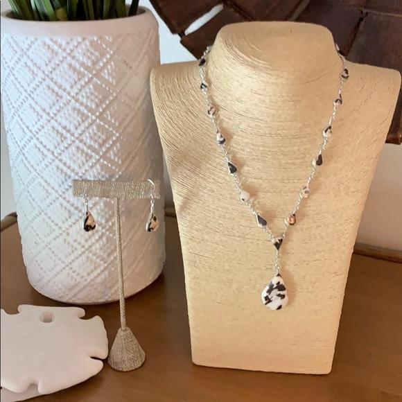 Bahamas Jewelry - Shell Necklace & Earrings Set